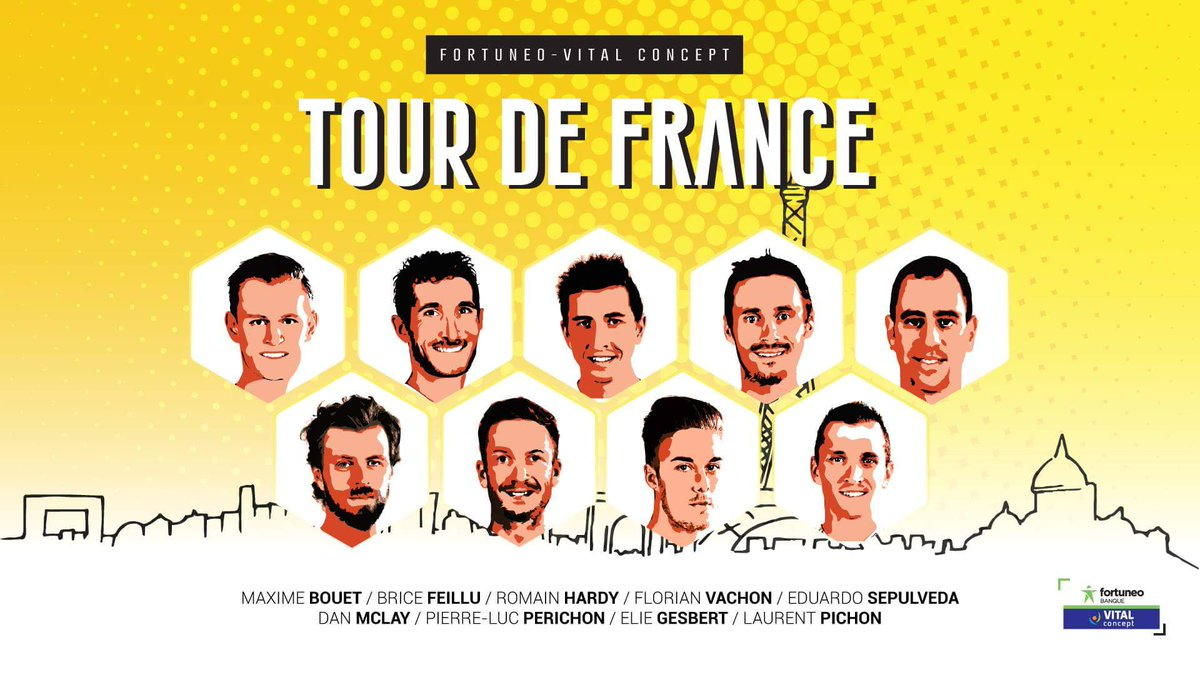 team Fortuneo-Oscaro Tour de France 2017