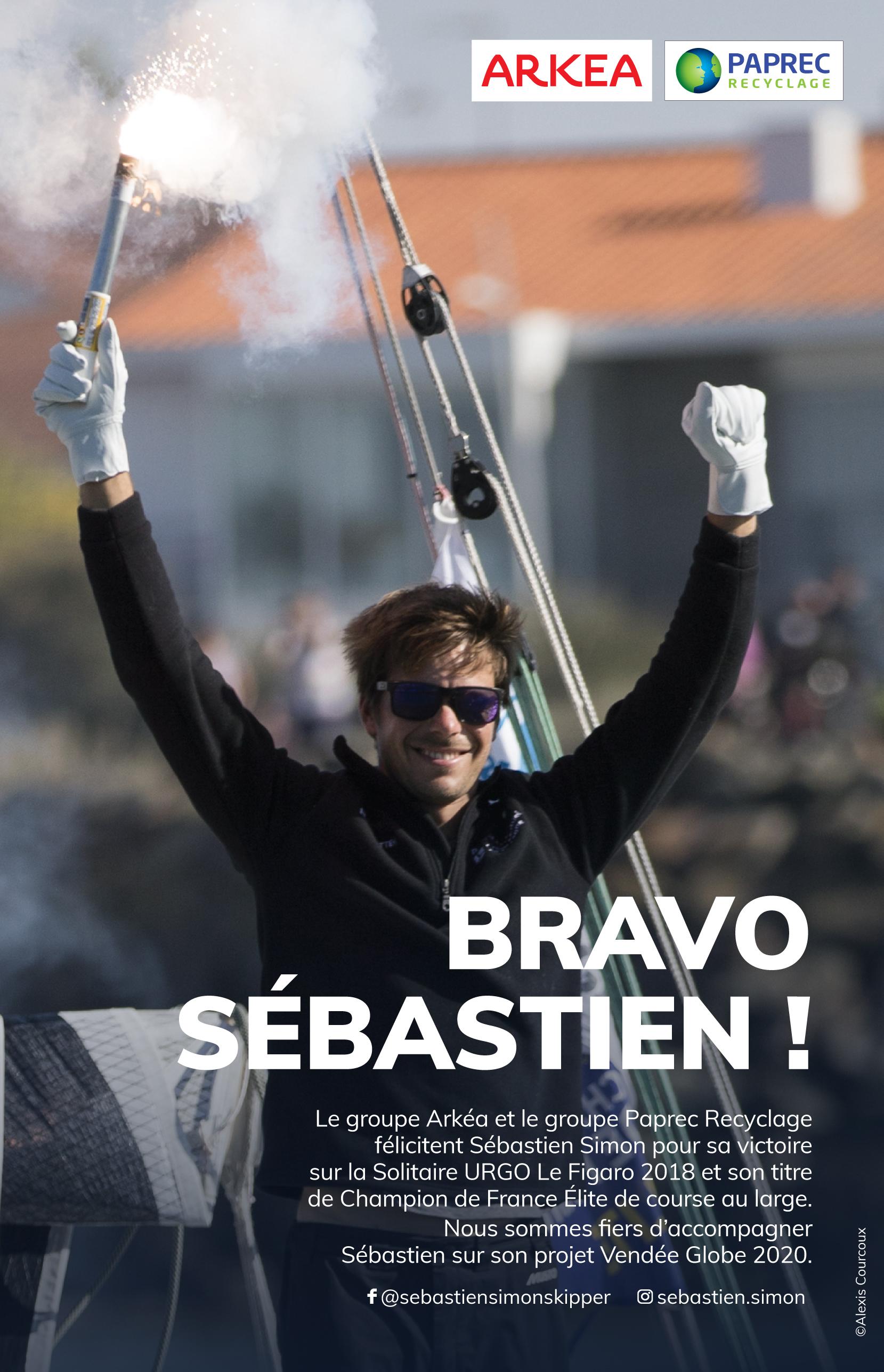Sébastien Simon vainqueur de la 49e édition de La Solitaire