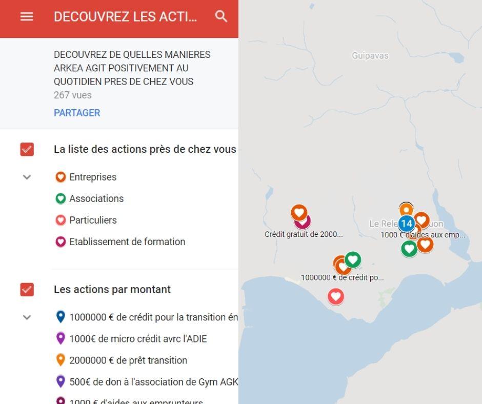Carte interactive de nos actions à impact positif