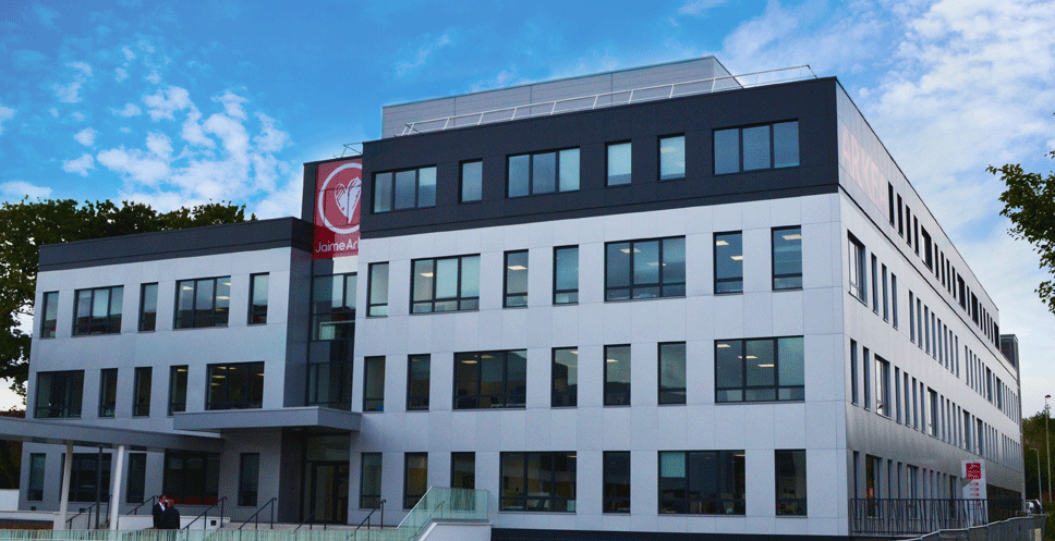 Le nouveau siège du pôle Entreprises et Institutionnels d'Arkéa à Rennes