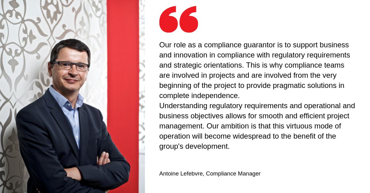 Antoine Lefebvre, Directeur de la Conformité