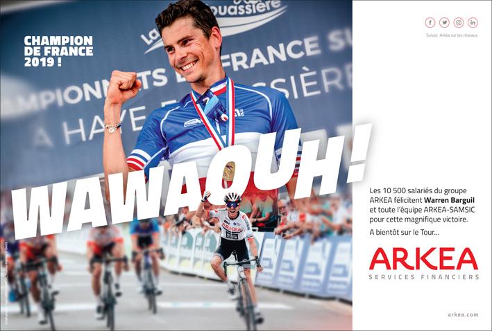 Maillot champion de France de Warren Barguil