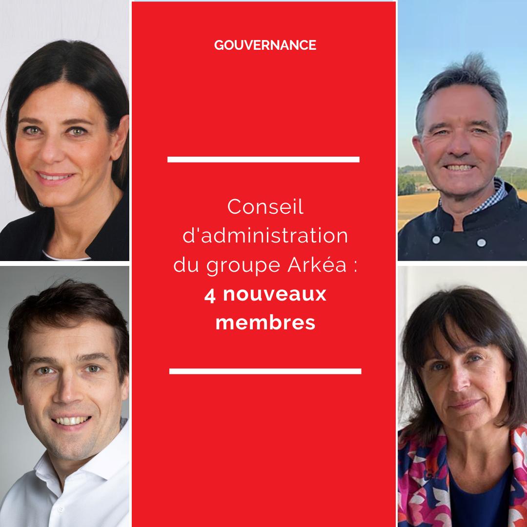 Quatre nouveaux administrateurs au Conseil du groupe Arkéa