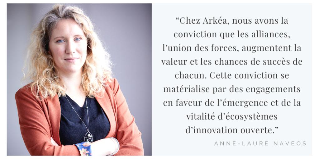 Anne-Laure Navéos, Directrice croissance externe et partenariats du groupe Arkéa