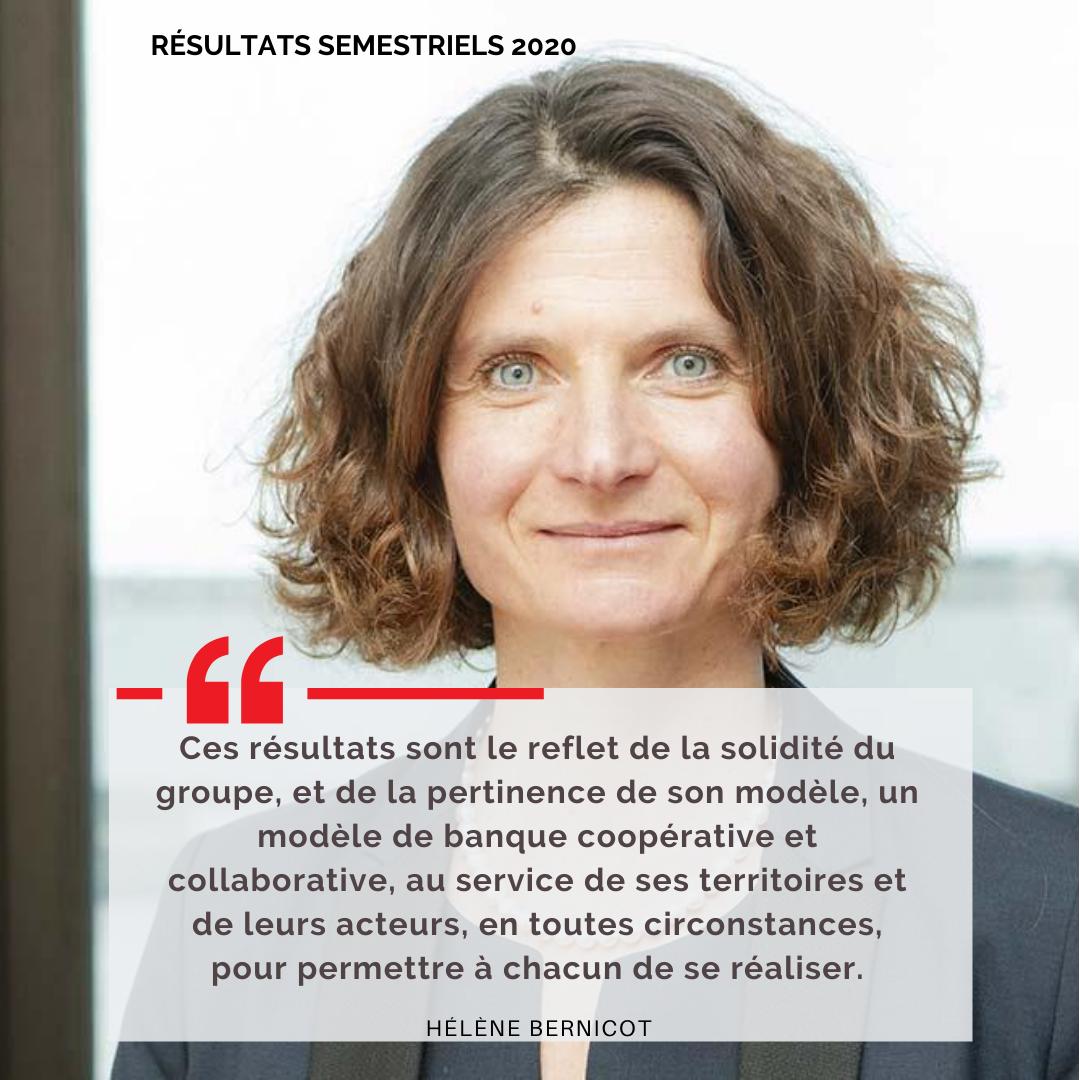 Verbatim Hélène Bernicot : résultats semestriels 2020